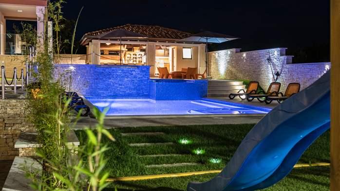 Očaravajuća vila s bazenom, finska sauna, teretana, jacuzzi, WiFi, 7