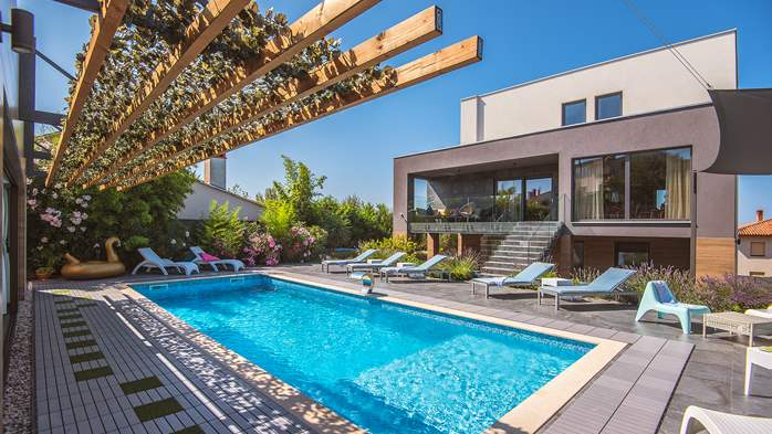 Marvelous villa in Banjole with pool, sauna, gym and free WiFi, 1