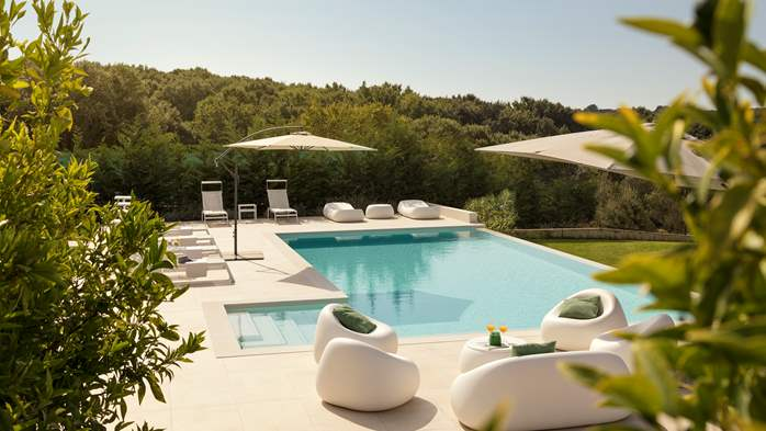 Stylish villa with heated pool near Pula, with wine cellar, 17