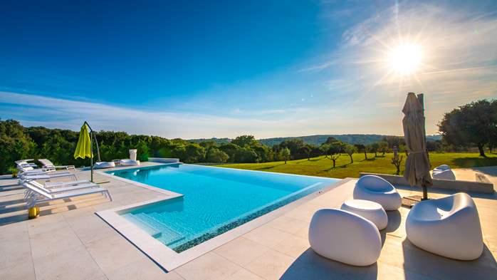Stylish villa with heated pool near Pula, with wine cellar, 14