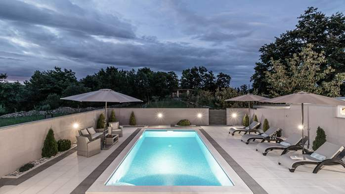 Villa with private pool offers privacy for families with children, 2