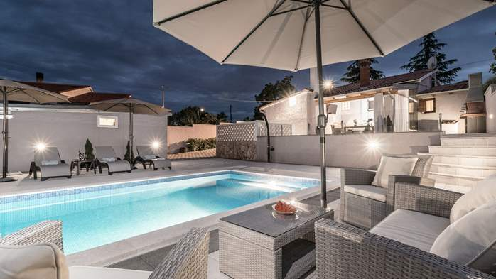 Villa with private pool offers privacy for families with children, 1