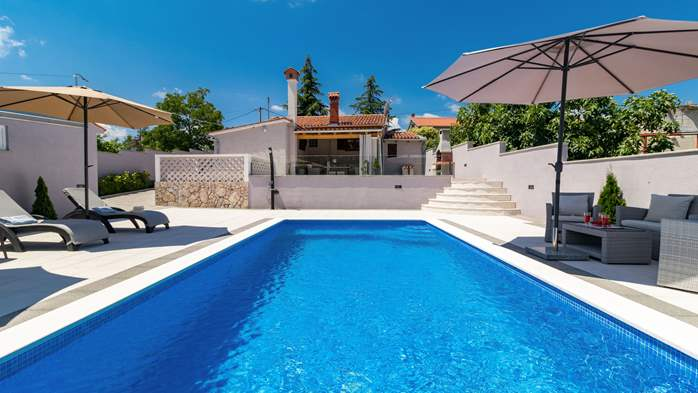Villa with private pool offers privacy for families with children, 5