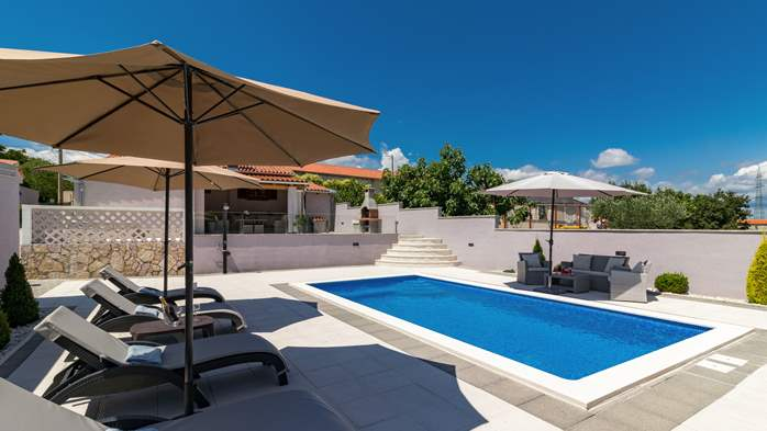 Villa with private pool offers privacy for families with children, 3