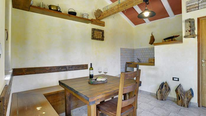 Charming villa with outdoor pool, nice garden and tavern, 6