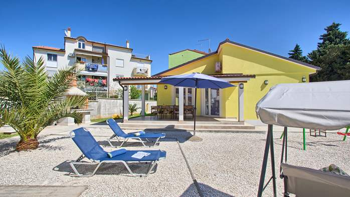 House near the sea in Medulin offers a private yard with BBQ, 2