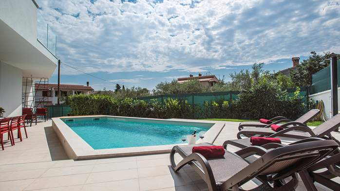 Luxury villa in Štinjan with outdoor pool and two bedrooms, WiFi, 3