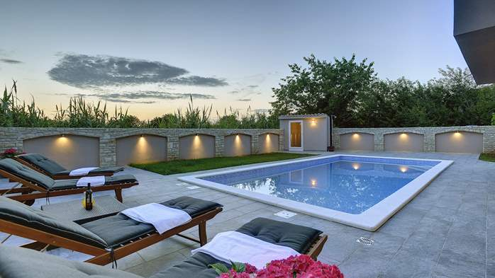 Unique, special villa in Valbandon with outdoor pool, 3
