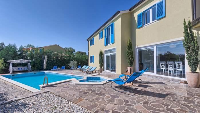 Attractive villa with 6 bedrooms, swimmingpool and Finnish sauna, 6