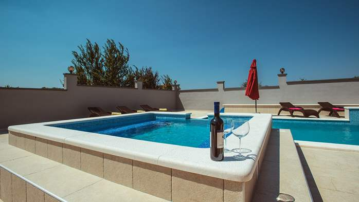 Spacious villa in Pula with pool and jacuzzi for 14 persons, 7