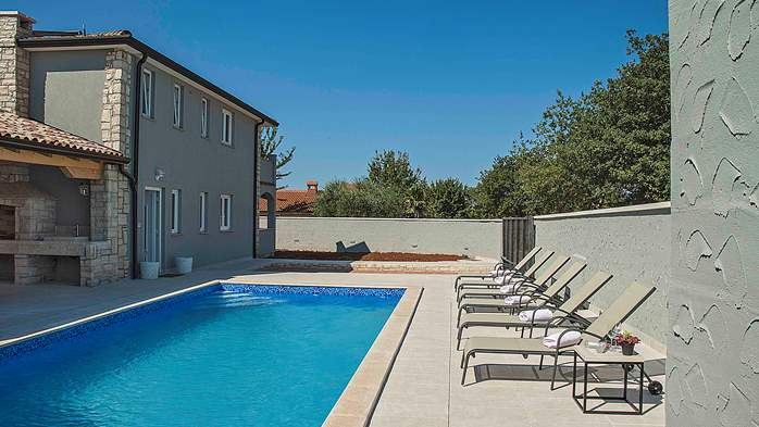 Villa near Porec with private swimming pool, WiFi, fireplace, 1