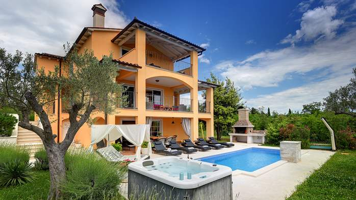 Lovely villa with pool, jacuzzi, sauna, gym and WiFi, 1