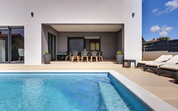 Newly built villa with modern interiors and swimming pool