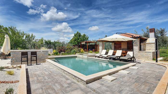 Villa with pool, sun terrace and beautifully landscaped garden, 1