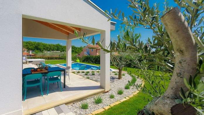 Fully equipped villa with spacious garden, swimming pool, jacuzzi, 10