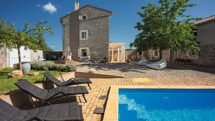 Stone villa on three floors with private pool, 3