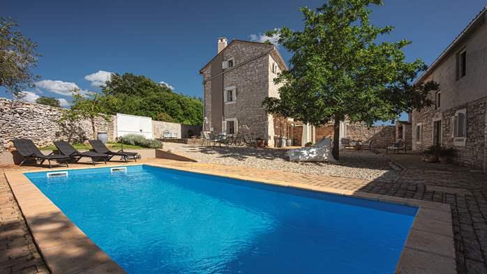 Stone villa on three floors with private pool, 1