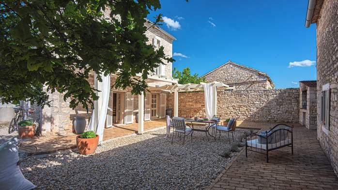 Stone villa on three floors with private pool, 4