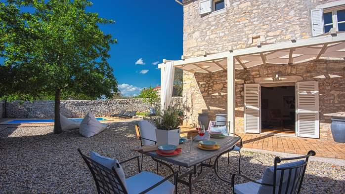 Stone villa on three floors with private pool, 2