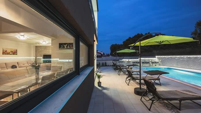 Modern villa in Štinjan offers a saltwater pool, Wi-Fi, BBQ, 17