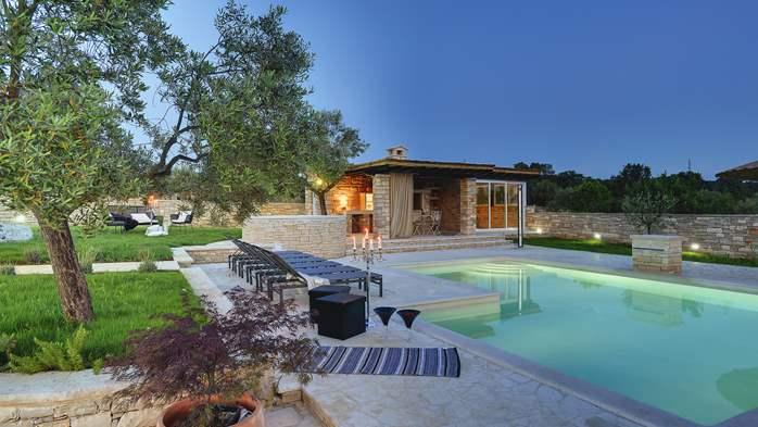 Stone villa near Rovinj, 2 swimming pools, 2 jacuzzis, 3 saunas, 19