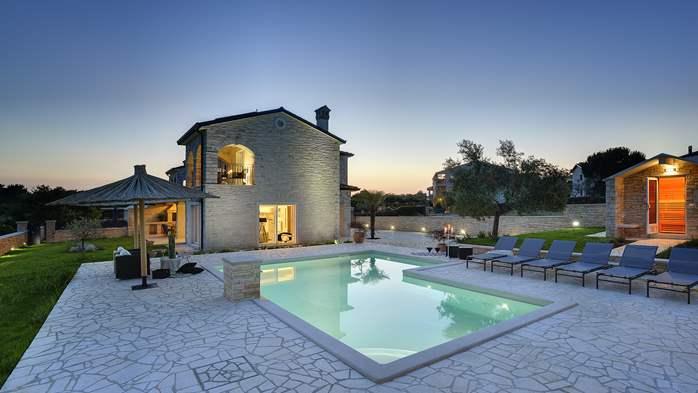 Stone villa near Rovinj, 2 swimming pools, 2 jacuzzis, 3 saunas, 10