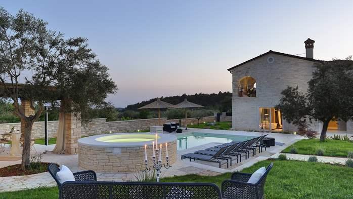 Stone villa near Rovinj, 2 swimming pools, 2 jacuzzis, 3 saunas, 15