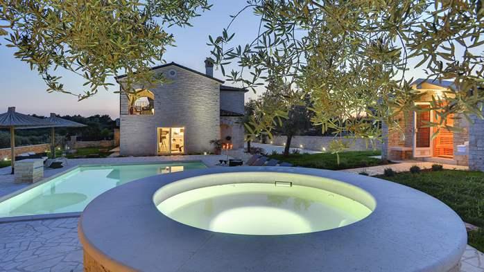 Stone villa near Rovinj, 2 swimming pools, 2 jacuzzis, 3 saunas, 12