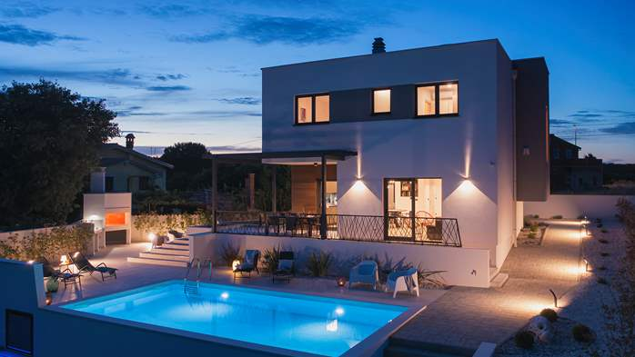 Modern villa in Pomer with private pool, for seven people, 7