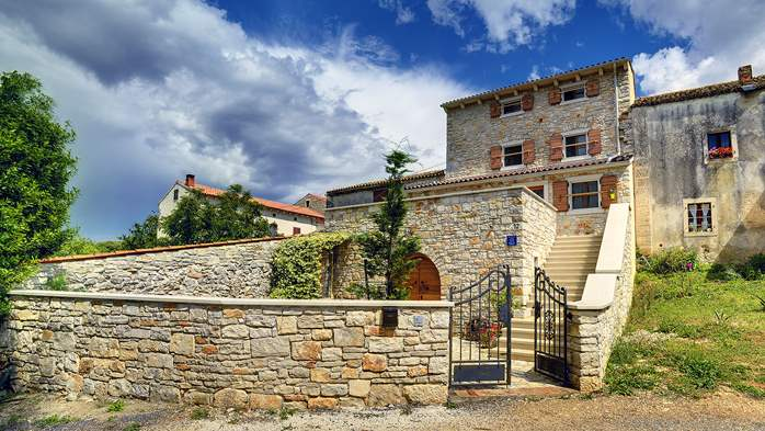 Traditional istrian stone villa with private pool and terrace, 13