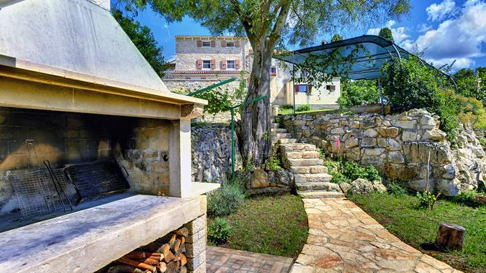 Traditional istrian stone villa with private pool and terrace, 15