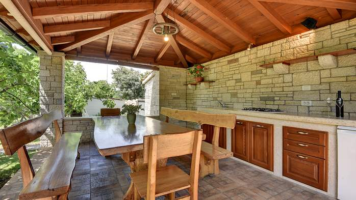 Traditional istrian stone villa with private pool and garden, 11