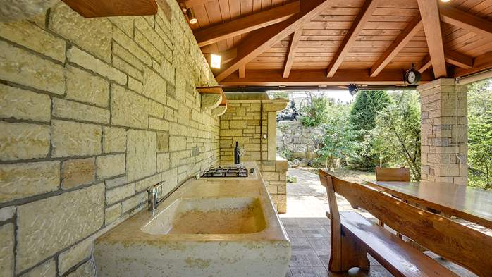 Traditional istrian stone villa with private pool and garden, 13