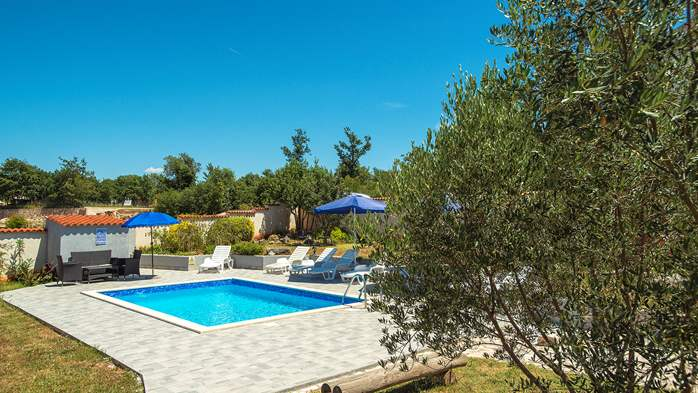 Villa with private pool, decorated in traditional Istrian style, 4