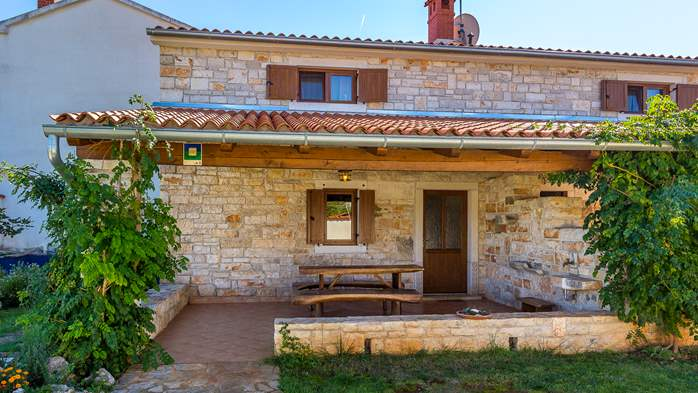 Villa with private pool, decorated in traditional Istrian style, 19