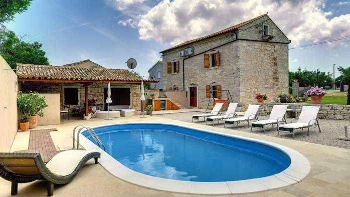 Istrian villa with private pool, playground for kids and barbecue, 6