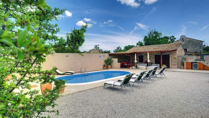Istrian villa with private pool, playground for kids and barbecue, 1