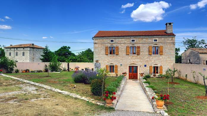 Istrian villa with private pool, playground for kids and barbecue, 7