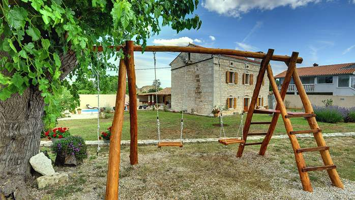 Istrian villa with private pool, playground for kids and barbecue, 8