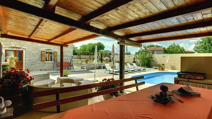 Istrian villa with private pool, playground for kids and barbecue, 10