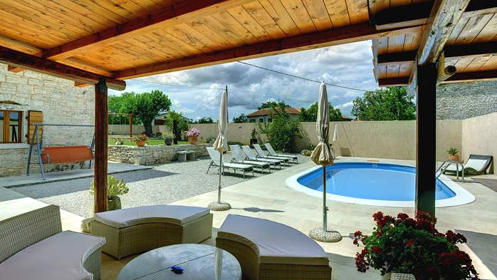 Istrian villa with private pool, playground for kids and barbecue, 11