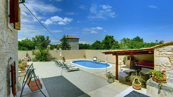 Istrian villa with private pool, playground for kids and barbecue, 2
