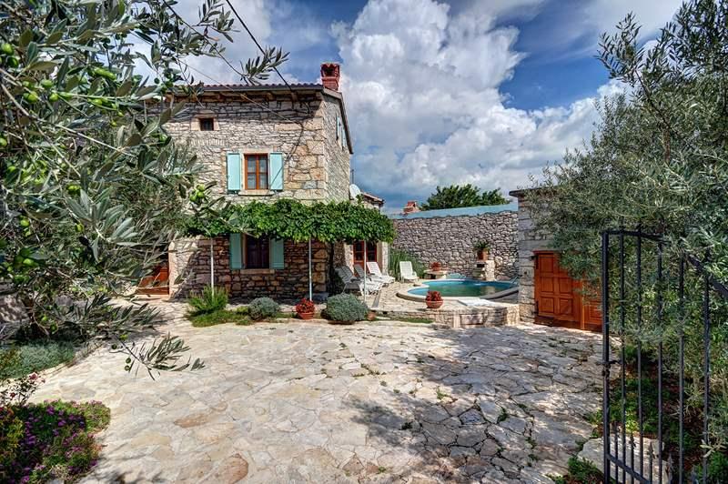 Guardate questa villa con piscina terrazza giardino for Piani di casa in stile ranch tradizionale