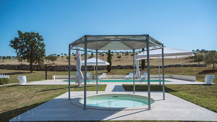 Attractive villa surrounded by olive groves, 1km from the sea, 8