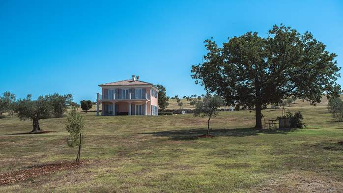 Attractive villa surrounded by olive groves, 1km from the sea, 13