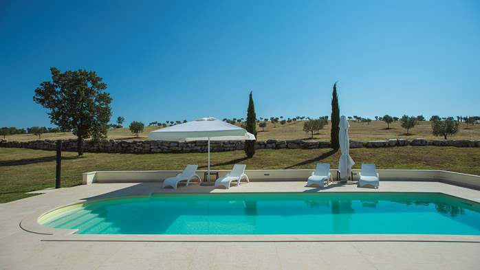 Attractive villa surrounded by olive groves, 1km from the sea, 7