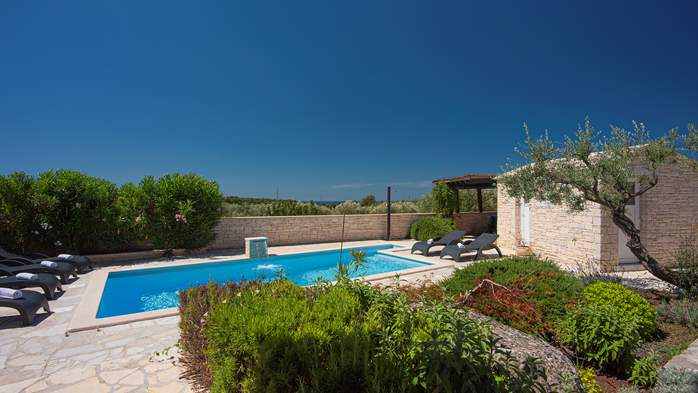 Classy villa with heated pool, 2 saunas, jacuzzi, Wi-Fi, BBQ, 15