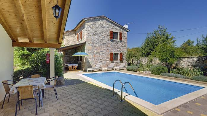 Charming villa with pool, parking, pets are welcome, 1