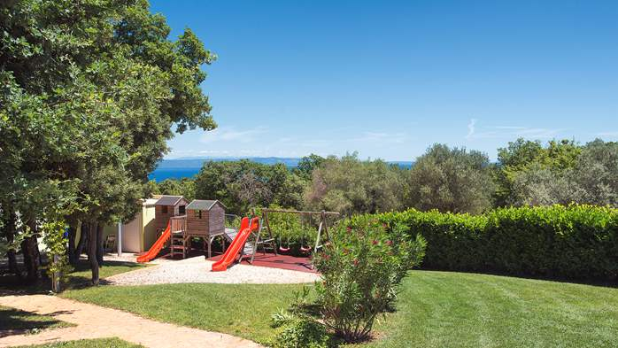 Villa with infinity pool, glass sauna,terrace and unique sea view, 23