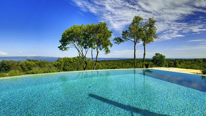 Villa with infinity pool, glass sauna,terrace and unique sea view, 5